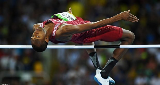 RIO DE JANEIRO، BRAZIL - AUGUST 16: Mutaz Essa Barshim of Qatar competes during the Men's High Jump Final on Day 11 of the Rio 2016 Olympic Games at the Olympic Stadium on August 16، 2016 in Rio de Janeiro، Brazil. (Photo by Shaun Botterill/Getty Images)