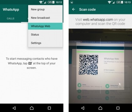 واتساب ويب WhatsApp Web على الكمبيوتر
